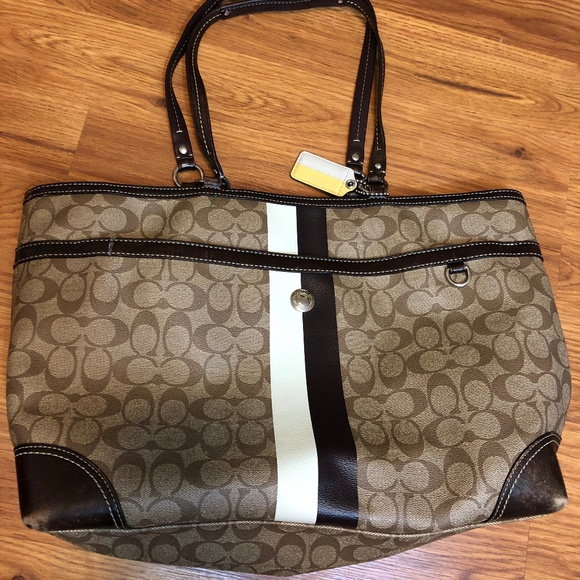 Coach Handbags - Coach Brown Diaper Bag